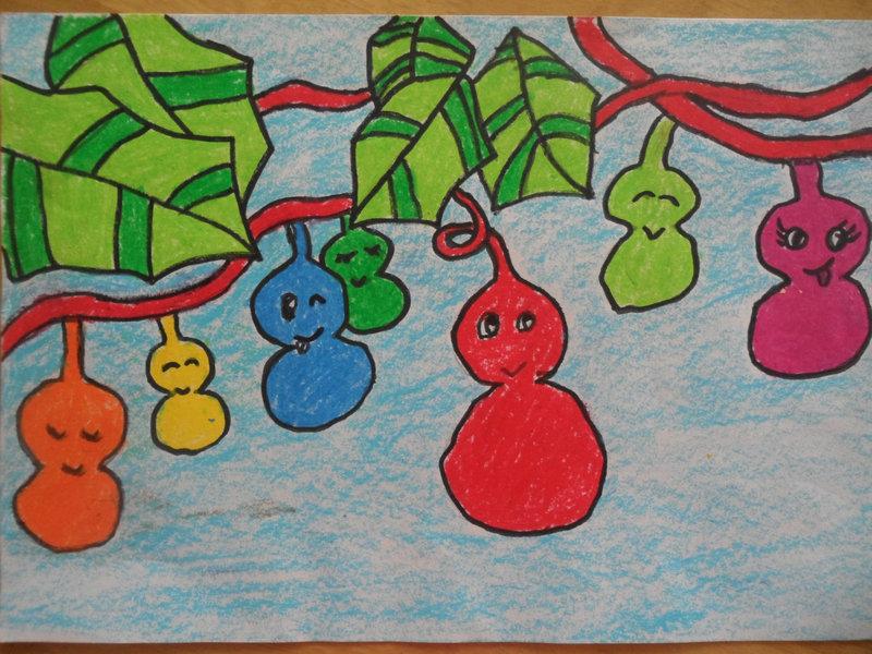 儿童葫芦彩绘图片大全